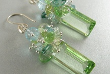 Earrings with minerals