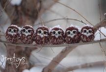 OWLS (PAINTED ROCKS)