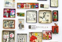 Art box / Composizioni artistiche con scatole e scatoline