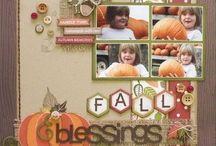 Thanksgiving scrapbook page