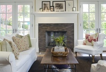 iNspiration ~ Family room / I'd love a whole new color scheme, furniture, etc.  We'd also love to re-do our fireplace surround and hearth. / by Robin Rix