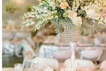 wildette en ryno trou / Peach, glitter and crystal wedding.