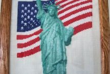 American Patriotic Cross Stitch Freebies