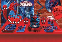 Spiderman tema / Find alt til din Spiderman fødselsdag og fest hos sjovogkreativ.dk  Her kan finde Spiderman tallerkener, kopper, servietter, duge, pynt og meget mere. Stort udvalg af spændende Spiderman ting til leg, fest og skole.