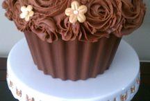 Backen - riesen Cupcakes