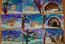 zvierata v zime