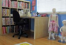 WHERE I SEW - 2014 / Designers share their sewing space with Pink Chalk Studio in the month of July each year / by Pink Chalk Fabrics - Modern Quilt Fabric and Sewing Patterns