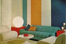 Mid Mod Mood / Mod home décor.  Mid century modern homes and furnishings