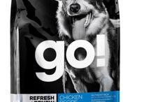 GO! for dogs / Δημιουργήσαμε τις τροφές GO! να είναι πλούσιες, θρεπτικά ενεργά συσκευασμένες, πραγματικά θρεπτικές για όλα τα σκυλιά, καθώς επίσης και για σκυλιά με ιδιαίτερες διαιτητικές ανάγκες.  Ανακαλύψτε την GO! SENSITIVITY + SHINE™ Salmon Recipe DF, την GO! REFRESH + RENEW™ Chicken Recipe DF και την GO! FIT+FREE™ Grain Free Recipe DF.  Οι GO! δεν περιέχουν καθόλου ορμόνες, υποπροϊόντα κρεάτων ή τεχνικά συντηρητικά.