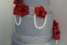 Red & Grey / Red & Grey wedding theme with natural confetti ideas from The confetti cone company www.confetti-cones.co.uk