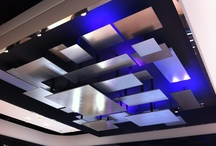 Office Ceilings / Ceilings do not need to be neglected. Great ceiling lighting. Great ceiling textures. Beautiful colours.