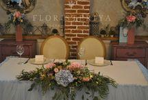 Стол молодоженов / the main table / стол для молодоженов декор столов свадебный декор столов цветочный декор столов президиум для молодоженов