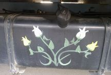 painting truck chassis