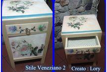 Alcune delle mie creazioni fatte a mano da Lory / Articoli : decoupage , bijoux -