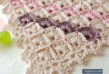 Crochet baby shawls