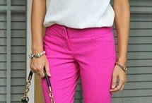 pantalon rosa looks