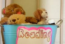 Reading center/board / by Ashley