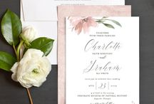 Pink Wedding Invitations and Save the Dates / Gorgeous pink wedding invitations and save the dates