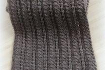 Écharpes en tricot