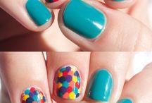 Uñas de arco iris
