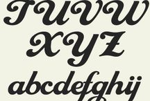 fonts / Caratteri tipografici