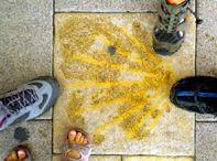 Camí de Sant Jaume fent trampes / Camí de Sant Jaume des de la platja del Prat en bicicleta o a peu i amb dos nens