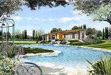GIARDINO DI CAMPAGNA / Simulazioni di progetto di un giardino di campagna - Lago di Garda -