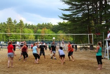 Adult Volleyball League / From the beginning of June through mid-August, participants in the Nashoba Valley Summer Volleyball League compete one of four evenings per week.