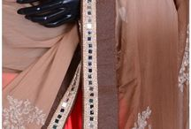 BLENDED CHIFFON EMBROIDERY SAREES