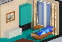 Projekty wnętrz / salon, łazienka, kuchnia, pokój dziecięcy, pokój dzienny