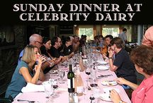 Celebrity Dairy Sunday Dinners / Celebrity Dairy Inn and Farm features Sunday farm to table dinners with guest chefs. Check our web site or Facebook page for times and reservation information.