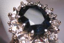 Sapphire, Black / Black Sapphire Rings & Jewelry
