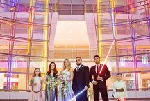 Star Wars Wedding / Stylized photo shoot at the Ronald Reagan International Building, Washington DC