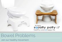 Bowel Problems / Even though you can't see them; it plays a huge part on how we are feeling on a day to day basis. Suffering with bowel problems such as haemorrhoids or constipation, we can feel really down in the dumps. We've got the products, the advice and the marvellous Squatty Potty to keep your bowels moving and healthy!