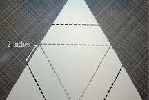 Star triangular card