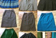 women's vintage wool skirts
