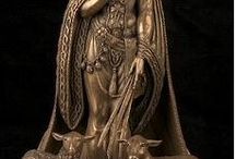 gods and goddess statue