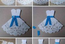 vestido papel