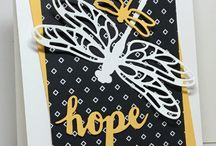 Dragonfly Dreams / Stampin' Up! Dragonfly Stamp set and Framelit dies
