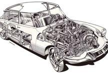 Citroën DS drawings
