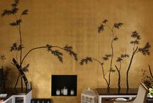 Gold Wallcoverings / Golds.