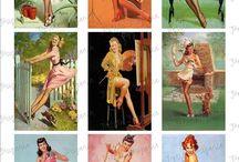 Vintage pinup girls