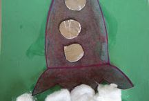 Outer Space Lesson / Outer space worksheets and crafts