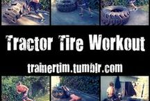 Exercise with tyre
