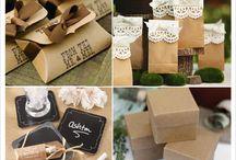 Mariage rustique cadeaux d'invités / Découvrez des idées de cadeau pour un thème de mariage rustique