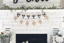 Winter Whites in Home Decor / With snow covering the grass and bright white clouds above, winter is all about white. From a rustic farmhouse with a modern winter white motif, we've created a board with some of our favorite ways to add white to your home decor this season!