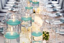 wedding decor / lime green and turquoise color theme
