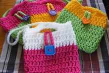 Crochet purse and pouch