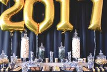 Class of 2017 Candy Bar / Accompanying a sit-down celebratory dinner was a deliciously delectable candy station.   With a classic Gold + Black colour palette this mouthwatering candy station was styled for an end of year school formal celebration.   With its custom-designed chocolate wraps, delectably custom packaged treats, luxurious linen and Gold foiled 2017 balloon backdrop all setting the sugary scene for this captivating treat station. See the full film on our Youtube channel: https://youtu.be/I71J877YzOo