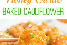 Honey baked cauliflower